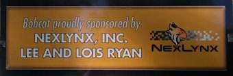 Bobcat proudly sponsored by NexLynx, Inc. Lee and Lois Ryan